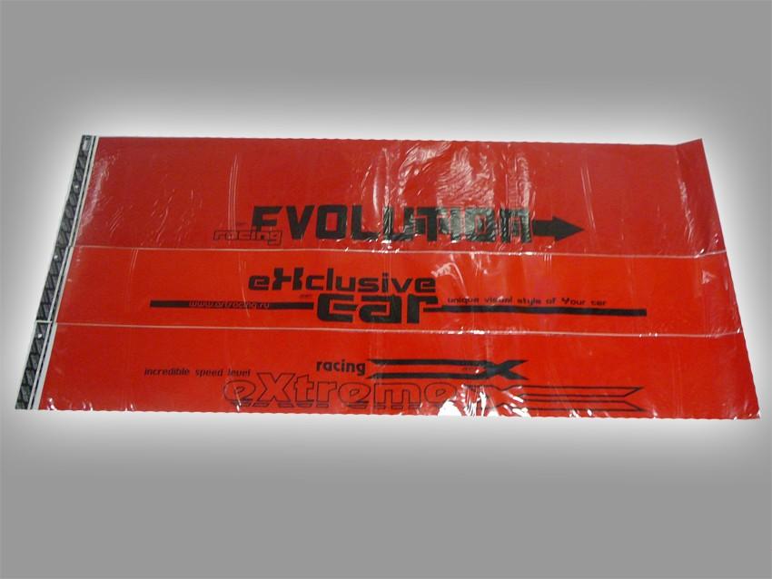 Полоса на лобовое стекло для ВАЗ 2110-2112,иномарок (с надписью),красная.