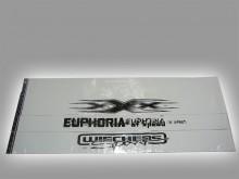 Полоса на лобовое стекло для ВАЗ 2110-2112,иномарок (с надписью),белая.